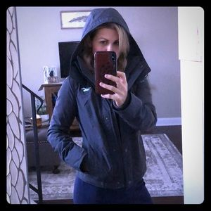 Gray Hollister All-Weather Jacket